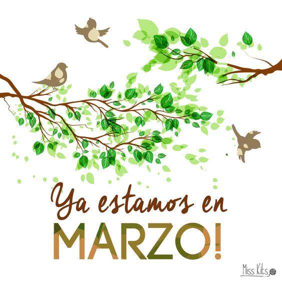 ¡Bienvenido Marzo! Deseando que llegue la primavera: