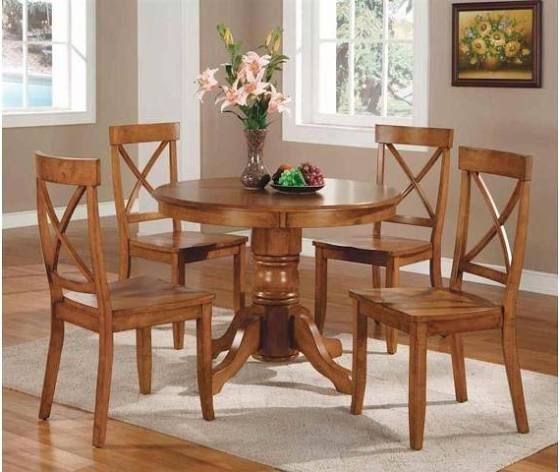 Space Saving Dining Table And Chairs  Round Table & Chairs Cool Oak Dining Room Furniture Decorating Inspiration
