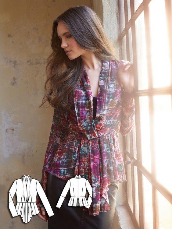 Draped Long Sleeve Top 09/2014 #112 http://www.burdastyle.com/pattern_store/patterns/draped-long-sleeve-top-092014?utm_source=burdastyle&utm_medium=blog&utm_campaign=bsawblog082514-drapedtop