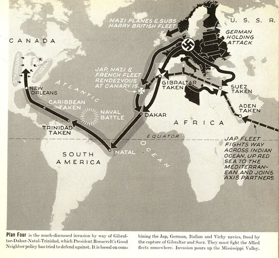 Mapping the Invasion of America | LIFE Magazine, 2 March 1942
