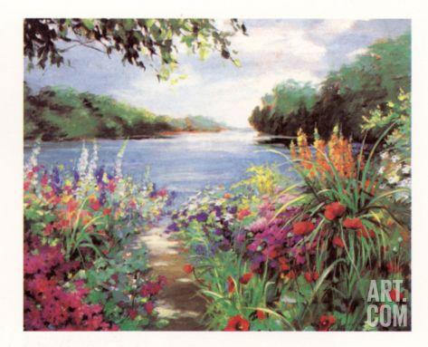 Lake Path Art Print by Natalie Levine at Art.com