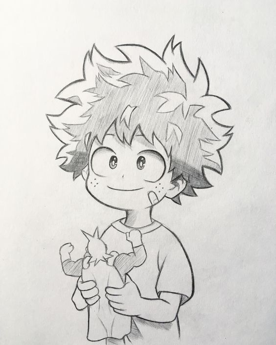 """Anime and Manga drawing ✒️ on Instagram: """"New sketch of Midoriya! 🤩 As in the survey the majority voted to upload the sketches of my drawings I will try to do more often and see a…"""""""
