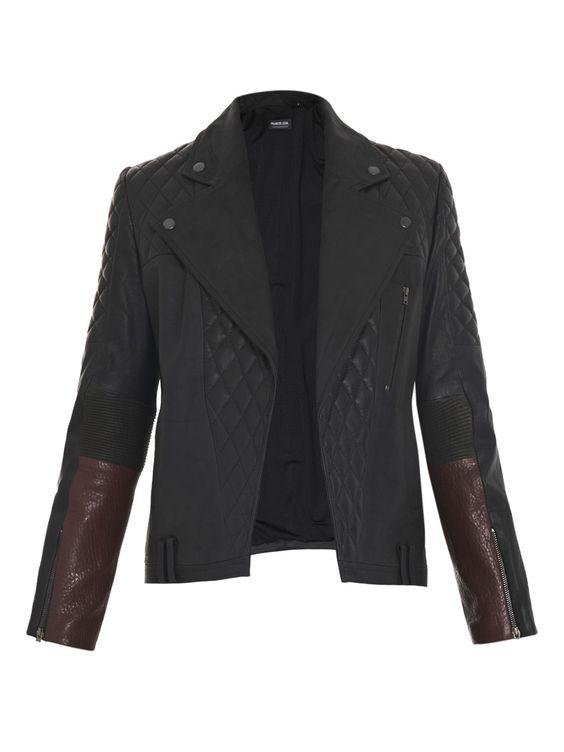 #FRANCIS #LEON  #Loki #quilted #biker #jacket
