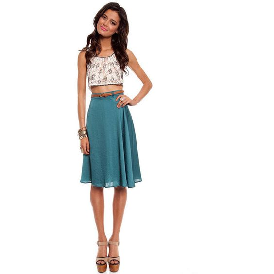 Whirlwind Skirt ($32) found on Polyvore