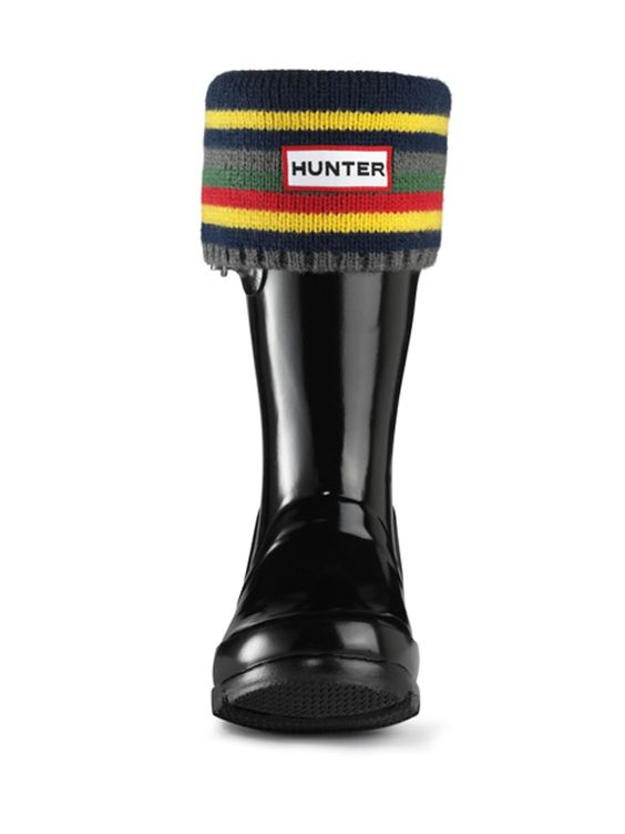 Kids Striped Cuff Welly Socks | Rain Boot Socks | Hunter Boots ...