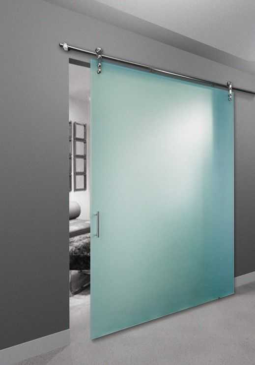 Frameless Room Divider With Designer Handle And No Bottom Track Made By The Sliding Door Compan Door Design Interior Glass Room Divider Sliding Doors Interior