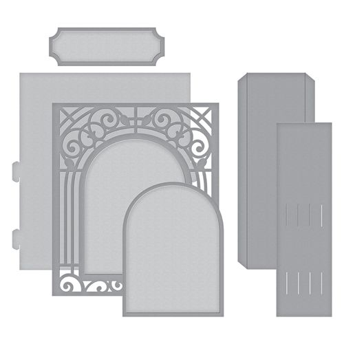 SPELLBINDERS Shapeabilities GRAND ARCH 3D CARD ETCHED S6-138 6 Dies Becca Feeken
