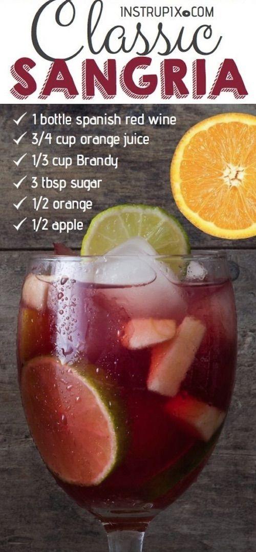 Easy Classic Red Sangria Recipe Sangria Recipes Easy Sangria Recipes Red Sangria Recipes