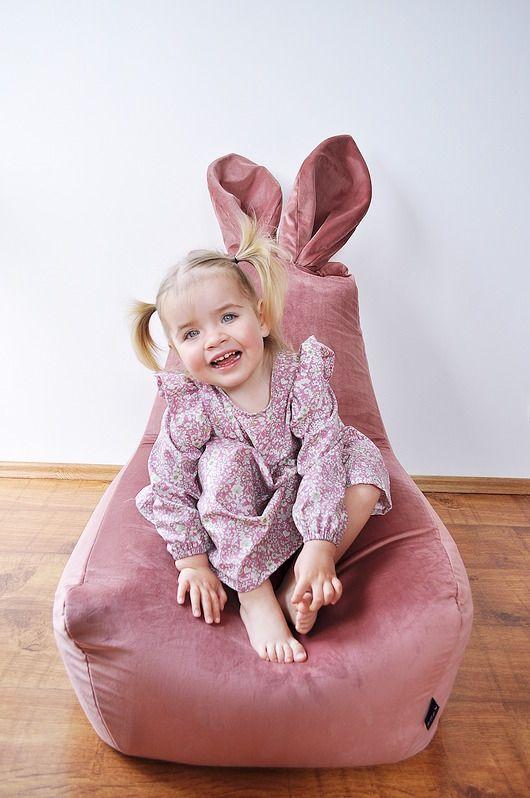Pufa Dla Dzieci Velvet Bunny Pakamera Pl High Chair Diy And Crafts Chair