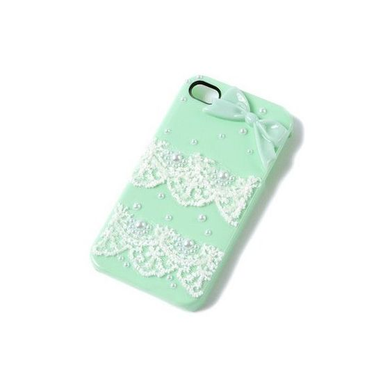 Pearls and Lace iPhone Cover for 4 & 4S | Claire's ($12) ❤ liked on Polyvore featuring accessories, tech accessories, phone cases, phone, iphone, iphone cover case, iphone case, iphone sleeve case and apple iphone cases