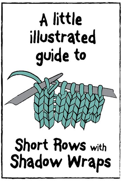 A little illustrated guide to Short Rows with Shadow Wraps [The blog text is in Danish, but the illustrations are in English]