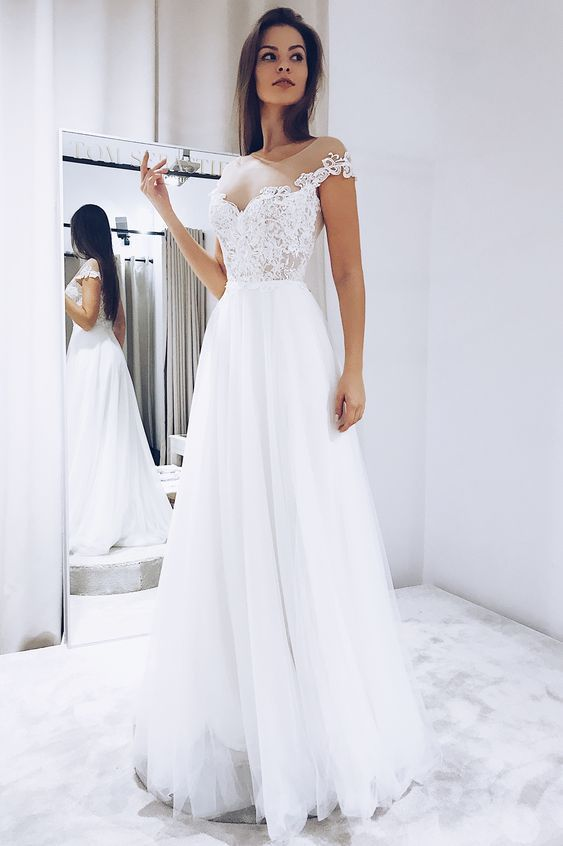 Pin By Alice Naomi On Wedding Shop Ul In 2020 Target Bridesmaid Dresses Modest Wedding Dresses White Tulle Wedding Dress