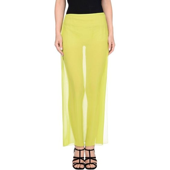 Blumarine Long Skirt ($319) ❤ liked on Polyvore featuring skirts and acid green