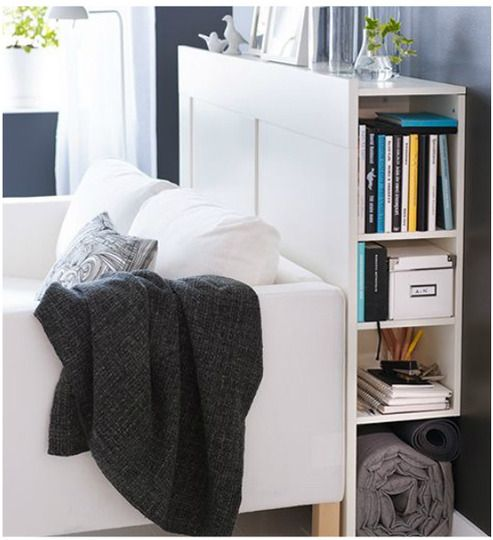 10 small space solutions from the 2012 ikea catalog headboards with storage living rooms and - Ikea storage solutions for small spaces set ...