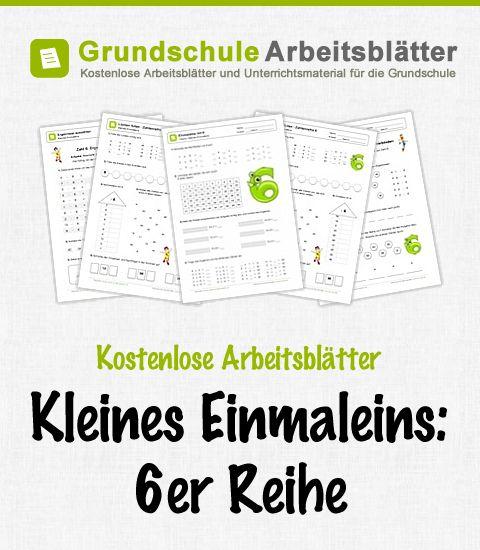 Kostenlose Arbeitsblätter und Unterrichtsmaterial zum Thema Kleines Einmaleins: 6er-Reihe im Mathe-Unterricht in der Grundschule.