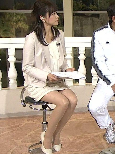 本田朋子ミニスカートで番組出演画像
