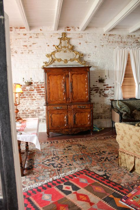 Eclectic New Orleans Style I Love The Layered Rugs Most