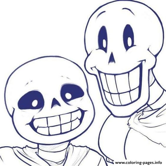 print sans and papyrus undertale coloring pages coloring pages pinterest dragon ball