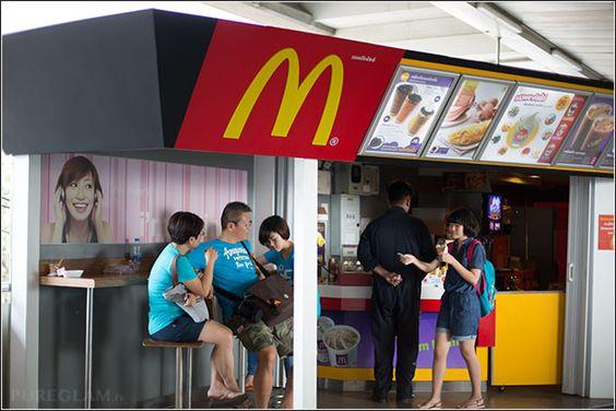 McDonalds at Mo-Chit BTS Station near Chatuchak Weekend Market Bangkok and Chatuchak Park - Bangkok, Thailand