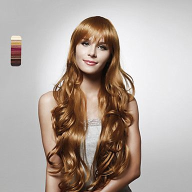 Capless Long High Quality Synthetic Curly Hair Wig Multiple Colors Available – CAD $ 56.52