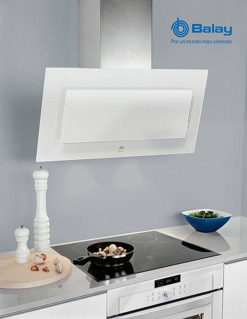 Electrodomesticos balay combinaci n campana placa y - Campana decorativa blanca ...