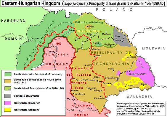 Regno d'Ungheria orientale - Localizzazione