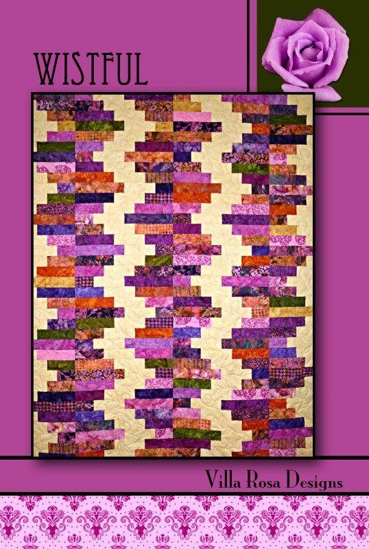 Wistful quilt pattern by Pat Fryer, Villa Rosa Designs