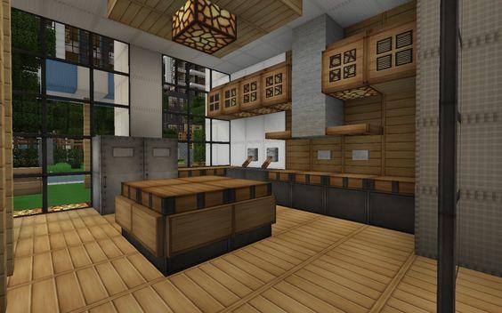 Minecraft Modern House Kitchen Google Search Minecraft Pinterest Minecraft Modern