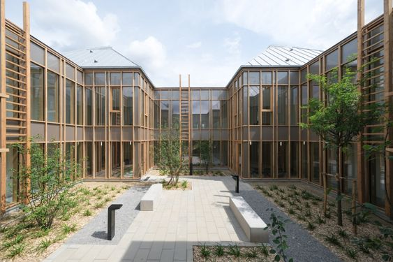 Taverny Medical Centre Surrounds A Courtyard Of Medicinal Plants