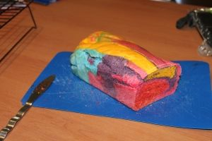 The kids would have fun making this for a Dr. Seuss or a rainbow day