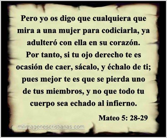 MATEO 5, 28-29