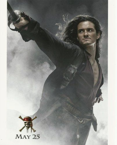 Orlando Bloom Pirates of the Caribbean 8x10 Poster Art Photo #3 smokey
