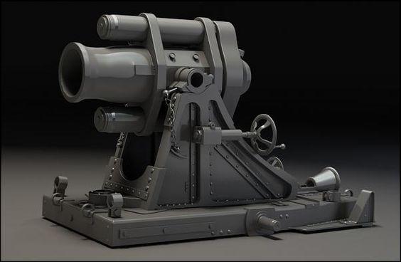 Ethan Morning | Mittlerer Minenwefer Trench Mortar | The Art Institute of Dallas