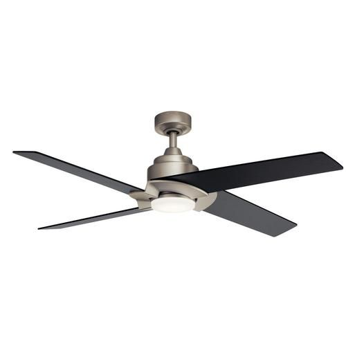 Kichler Malay 52 In Brushed Nickel Led Indoor Ceiling Fan With Remote 4 Blade Lowes Com Ceiling Fan With Light Ceiling Fan Fan Light