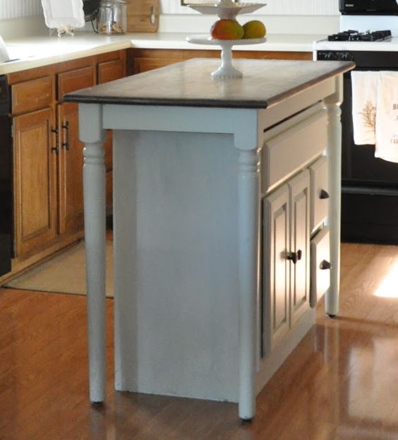 Kid old bathrooms and we on pinterest for Bar height kitchen cabinets