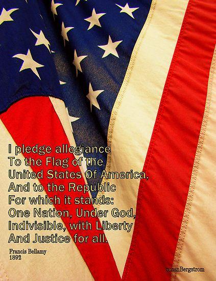 Pledge Of Allegiance  Artwork by Susan Bergstrom