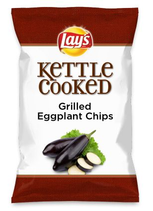 Wouldn't Grilled Eggplant Chips be yummy as a chip? Lay's Do Us A Flavor is back, and the search is on for the yummiest flavor idea. Create a flavor, choose a chip and you could win $1 million! https://www.dousaflavor.com See Rules.