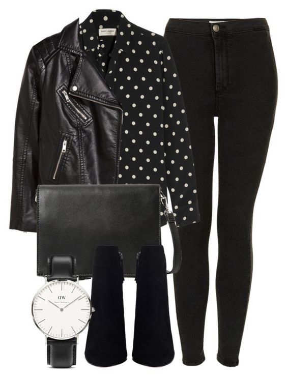 """""""Untitled #5096"""" by laurenmboot ❤ liked on Polyvore featuring Topshop, Yves Saint Laurent, H&M, MANGO, Daniel Wellington, women's clothing, women's fashion, women, female and woman"""