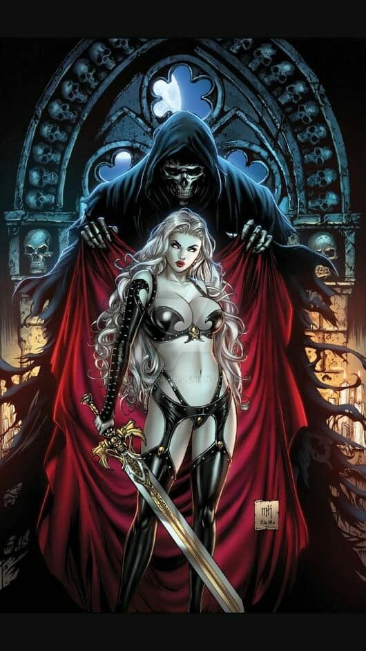 Pin By Theia Sievers On Mitologia Lady Death Character Art Fantasy Girl