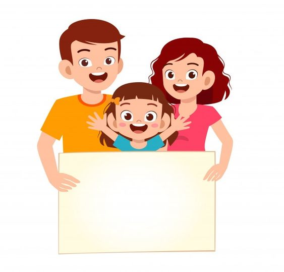 Feliz Lindo Nino Nina Y Familia Con Bann Premium Vector Freepik Vector Familia Chica Caracter En 2020 Familia Feliz Dibujo Ninos Y Familia Dibujos Para Ninos