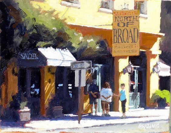"Slightly North Of Broad by Dan Graziano Oil ~ 8"" x 10"""
