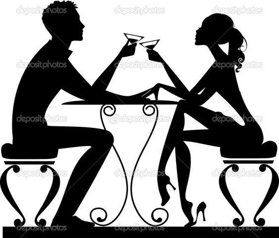 Encontro romântico - Ilustração vetorial: 27019553