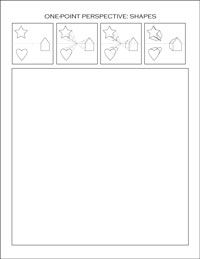 one point perspective worksheets perspective pinterest perspective one point perspective. Black Bedroom Furniture Sets. Home Design Ideas
