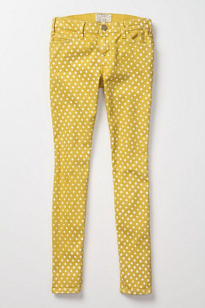 Yellow polka dot pants