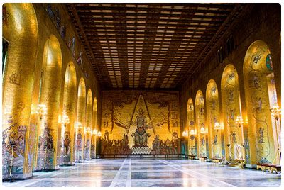 Stockholm's City Hall, the Gold Hall where we had our big MK Gala banquet. Amazing!!!