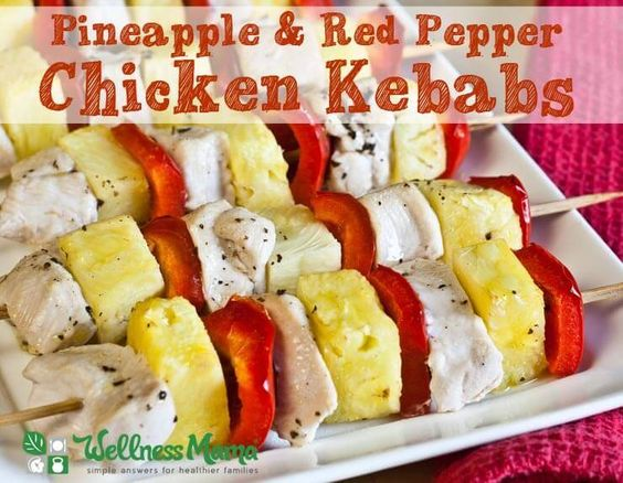 Chicken and pineapple kebabs - perfect for grilling!