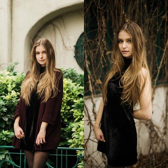 Get this look: http://lb.nu/look/8123774  More looks by Valerie Staber: http://lb.nu/valeriestaber  Items in this look:  Brandy Melville Usa Velvet Dress, Brandy Melville Usa Cardigan   #casual #classic #minimal