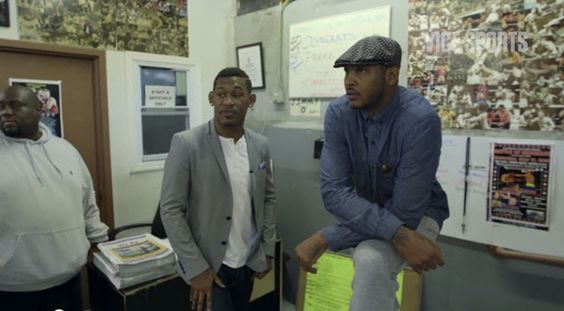 Carmelo Anthony Talks Boxing With Boxer Danny Jacobs [Video]- http://getmybuzzup.com/wp-content/uploads/2014/08/Carmelo-Anthony-Danny-Jacobs.jpg- http://getmybuzzup.com/carmelo-anthony-danny-jacobs/- Carmelo Talks to Danny Jacobs about His Title Shot VICE Sports today presents the latest from its series VICE Sports Meets. In the episode, NBA All-Star and boxing aficionado Carmelo Anthony heads to Danny Jacobs's home gym in Brooklyn for a one-on-one chat. The prof