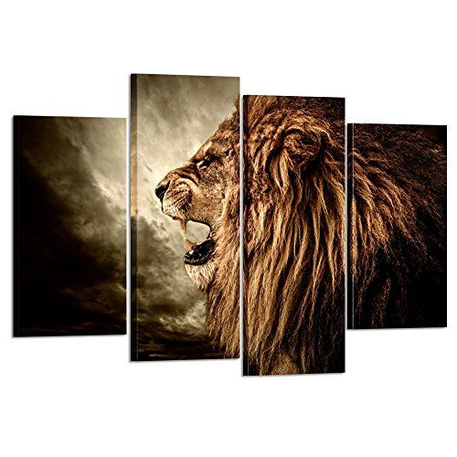Kreative Arts 4 Panel Wall Art Lion Painting Print On C Https Www Amazon Com Dp B073f1xzfv Ref Cm S Panel Wall Art Animal Canvas Paintings Lion Painting