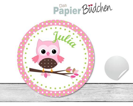 #aufkleber#sticker#mit namen#eule#papierbuedchen# http://www.papierbuedchen.com//de/Aufkleber/Aufkleber-mit-Namen/Aufkleber-Namensaufkleber-70.html